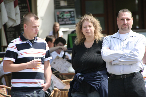 Thomas Wentzel (links) op Dutch Tea Party manifestatie, 2010